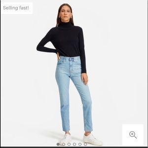 Everlane High Waist Cheeky Straight Jeans